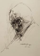 IMG_20190120_065615 (Gasheh) Tags: art painting drawing sketch portrait man line pen gasheh 2019