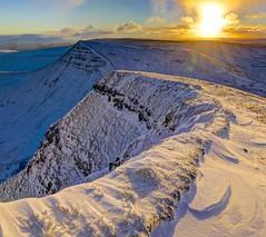 Dawning on me (pauldunn52) Tags: brecon beacons national park cribyn mountains snow sunrise pen y fan wales