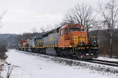 WCOR 301 (Dan A. Davis) Tags: buffalopittsburgh bprr bp gw geneseewyoming sd402 sd40t2 sd50 ltex freighttrain train locomotive railroad pa pennsylvania butler wcor wellsboroandcorning