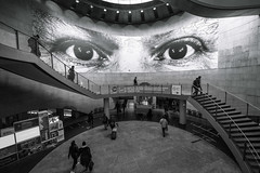 Big brother is watching you 1 (jeffclouet) Tags: paris france europe capital nikon nikkor d850 monochrome bnw bw nb pb blackandwhite city ville cuidad street rue calle urban urbano urbain metro subway underground people personas station streetshot streetphotography eyes urbanlife urbanphotography streetview streetart jr