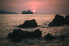 SadFall_23 (SadFo_x1) Tags: sky blue travel summer samos landscape light remembrance beach red sun clouds orange