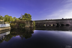 River Ill in Quartier de la Gare with Barrage Vauban - Strasbourg - Alsace - France (R.Smrekar-CH) Tags: alsace reflection autumn landscape city bridge river 000100 d750 smrekar 2018 france