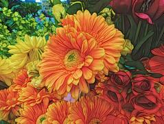 Artificial (Durley Beachbum) Tags: flowers orange topaz