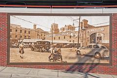 The Way It Was (Fiddling Bob) Tags: mural publicart durhamnc farmerscafeandpoolroom oldcars