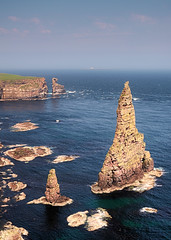 Duncansby Stacks (ShinyPhotoScotland) Tags: art photography equipment camera lens places scotland light sunlight landscape emotion beautiful nature rawconversion manipulated composite hdr brightsunlight dramatic enfuse digikam elegance composition shapely sumptuous toned contentment contrasts nearfar highviewpoint achievement skyearth simple aspiration colour rawtherapee balance raw serifaffinityphoto lightanddark pure landwater rockstone geology sandstone conglomerate naturehappens highlands hopeful turbulence transience attitude harmony fuji fuji1650mm fujixt20 caithness coastal johnogroats duncansbyhead duncansbystacks structure clifftop middleredsandstone