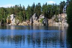 rocks by the lake :) (green_lover (I wait for your COMMENTS!)) Tags: lake water piskovna czechrepublic adršpašskoteplickéskály landscape rocks trees travels