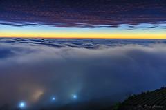淹沒_DSC7844N (何鳳娟) Tags: 頂石棹 夕陽 雲海 雲瀑 琉璃光 夜景 阿里山 風景 茶園
