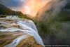 Waterfall Gorge (David Swindler (ActionPhotoTours.com)) Tags: cascada catarata fog longexposure mexico tamul atmosphere canyon clouds sunrise waterfall waterfalls
