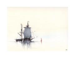 Vieux gréements (Yvan LEMEUR) Tags: voiliers voile vieuxgréements marine mer sea acuarela watercolour aquarelle peinture