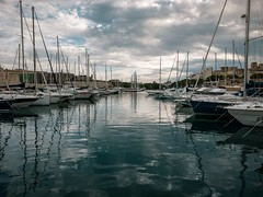 Msidafternoon (Мaistora) Tags: marina haven harbour boats sailboats yachts water reflections sky clouds peace quiet calm serene peaceful green blue teal aqua surface ripples smooth mirror weekday season autumn winter berthing anchored windless sleepy painterly scape cityscape seascape skyscape landscape scene vista view msida malta leica dlux typ109 lightroom luminar taxbiex gzira