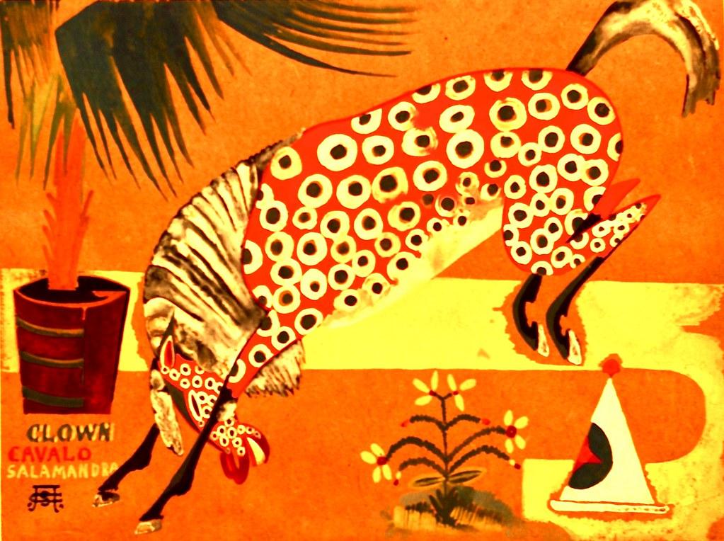 Title unknown (Clown, Horse, Salamander) (1911) - Amadeu de Souza Cardoso (1887 - 1918)