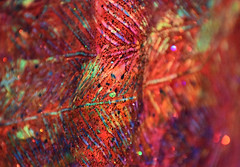 Autumn on Paper (TejaO) Tags: macro sparkly colorful vibrant vivid painting glitter bokeh