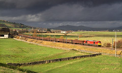 Tugging Under A Dark Sky. (Neil Harvey 156) Tags: railway 60054 cononley airevalley gypsumtrain 6e97 monsterboxes mba class60 dbcargo dbschenker tug darksky