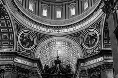 Dome and Altar Area - St peter's Basilica - Vatican City - Rome (wooiwoo) Tags: baldacchino baldacchinodisanpietro basilicapapaledisanpietroinvaticano dome interior italy papalbasilicaofstpeterinthevatican rome stpetersbaldachin stpetersbasilica vaticancity