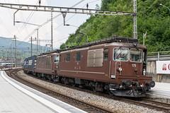 BLS Re 4/4 179 & 186, Olten, 3-7-2010 (mch68) Tags: bls bernlötschbergsimplon electriclocomotive europe olten rail re44 schweiz switzerland zwitserland