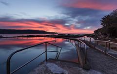 Malabar Reflections (David Marriott - Sydney) Tags: malabar newsouthwales australia au rock pool ocean sydney nsw long bay reflection sunrise dawn swim
