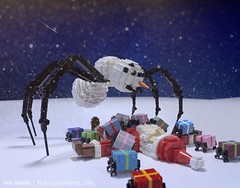The Nature of Christmas (Ochre Jelly) Tags: lego moc afol christmas xmas holidays santa snowman frostie gift present spider snow