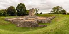 Panoramic view of Ludgershall Castle (Keith in Exeter) Tags: ludgershall castle panorama landscape building architecture tower ruins ancient english heritage grass bank ditch stonework royal residence sky tree photomerge