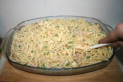30 - Nudeln & Guss vermischen / Mix noodles & yoghurt sauce (JaBB) Tags: spaghetti nudeln noodles ham schinken speck speckwürfel bacon dicedbacon scallions frühlingszwiebeln yoghurt joghurt cremefraiche eier eggs sahne cream auflauf nudelaufauf pasta pastabake knoblauch garlic foodl lunch dinner essen nahrung nahrungsmittel mittagessen abendessen kochen cooking rezept recipe kochexperiment kochexperimente küche kitchen foodblog foodblogger