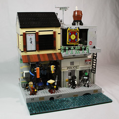 TBB Ninjago City Collab ([C]oolcustomguy) Tags: lego brickcon ninjago city brickarms cyberpunk