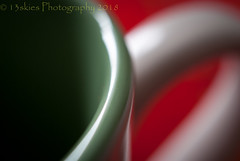Glass Mug (HMM) (13skies) Tags: glass glassmug macro macroscopic macromonday monday sonyalpha100 happymacromondays closer redandgreen coffee tea handle hmm sony dof depthoffield shallow redux2018 favouritethemeoftheyear favorite