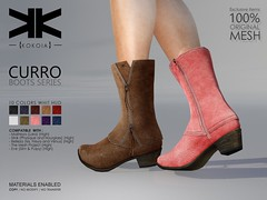 Curro :: Woman Boots :: 10 Colors ({kokoia}) Tags: boots curro ankle mesh kokoia maitreya slink belleza woman booty winter flat high booties botas bota shoes fashion moda tmp lara pulpy freya venus isis piratas secondlife 3d