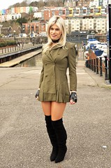 New dress bought for me by Secretary_Debbie. Photo by Lord Q (Miss Nina Jay) Tags: boots dress