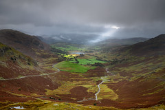 Spotlight (Rico the noob) Tags: grass d850 lakedistrict 2470mm street outlook mountains outdoor lake 2470mmf28 clouds water published hills uk nature house dof sky fog 2018 river landscape mountain