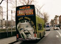 Dublin Bus RH101 (91D10101). (Fred Dean Jnr) Tags: dublinbusroute49 rh101 91d10101 edenquaydublin february1998 megarear dublinbustwotonegreenlivery fm104 leyland olympian alexander r rend