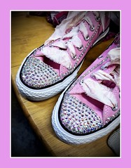Cinderella's sneakers (MoparMadman63) Tags: pink sneakers comfortable bling studded rhinestones sparkle elegant whimsical fashion shoes pair display shopping