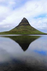 Kirkjufell Reload (Eye of Brice Retailleau) Tags: angle beauty composition landscape nature outdoor paysage perspective scenery scenic view extérieur cloud clouds cloudy cloudscape nuages backback backpacking travel traveling sky skyscape outside outdoors ciel panorama light lake lac europe arctic iceland islande water waterscape island ile icelandic mountain montagne reflet reflection kirkjufell colour color colorful colourful mirror