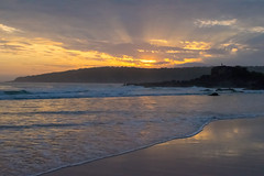 Sunrise over Pambula Beach (lizjakimow74) Tags: australia pambula beach sunrise surf seashore waves