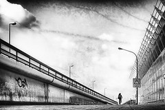 316 (dijopic) Tags: bw creativ daylight light outdoor bike person street road building urban view dijopic