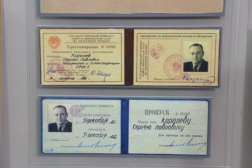 Sergei Korolev Identification cards