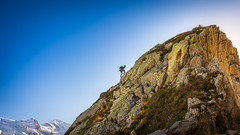 CLIMBER IN CHAMONIX (Fredy Laguna) Tags: aiguilledumidi alps bluesky chamonix climbers climbing danger destination europe european france frenchalps mointains montblanc park peaks rocks snow snowcappedmountains sport summer tourism winter