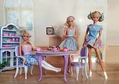 Tea Party: Barbie German doll, Barbie My First 1992 ballerina doll, Dream Wedding Barbie from set (alenamorimo) Tags: barbie barbiedoll dolls superstar home barbiecollector