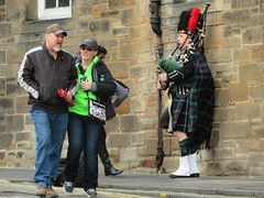 Scots Piper (deltrems) Tags: edinburgh scotland scots scottish piper bagpipes tourists people