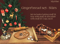 Gingerbread set (Myrrine.) Tags: christmas xmas tannebaum secondlife gacha myrrine 3d holidays celebration