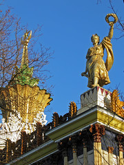 Architecture of Soviet times (janepesle) Tags: moscow russia architecture modern statue sky travel urban city outdoors