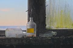 empty bottles (jkatanowski) Tags: abandoned forgotten laboratory glass bottles rot window decay derelict urbex urban exploration europe poland sony a7m2 85mm indoor