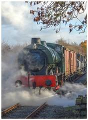 Autumn Steam freight at Avon Valley Railway Gala Nov 2018 (livinginhtab) Tags: steam freight gala avonvalley autumn colourful