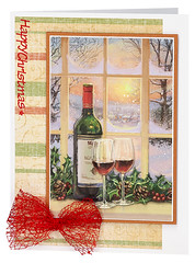 Craft Creations - Charlotte488 (Craft Creations Ltd) Tags: wine christmas greetingcard craftcreations handmade cardmaking cards craft papercraft