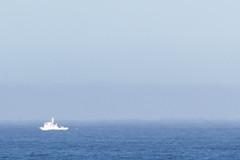 Haze (Scriblerus) Tags: morrobay california pacific boat haze refraction
