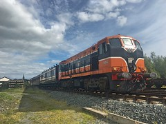 Downpatrick, 07/09/2018 (Milepost98) Tags: ni northern ireland irish dcdr heritage vintage preserved museum line shunt itg traction group diesel locomotive 146 b b146 class gm downpatrick county down railway carriage coach carriages coaches gswr 836