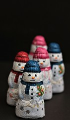 In a Row... (catherine4077) Tags: chocolate snowmen row five delicious milkchocolate