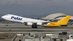085A9930 Polar 747-87UF N852GT departing KLAX RWY 25L. (midendian) Tags: airport aircraft airplane departure imperialhill lax klax losangelesinternational n852gt polar747 polaraircargo polar cargo freighter 747 7478 b748 7478f