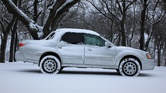 IMG_2814 (86Reverend) Tags: 2006 subaru baja turbo lifted anderson design fabrication adf method race wheels 502 bf goodrich ko2 winter snow