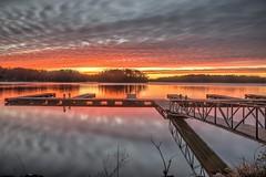 Sunrise on Lake Lanier, Little Hall Park (Yer Photo Xpression) Tags: ronmayhew canoneos5dmarkiv sunrise lakelanier dock water lake sky cloud
