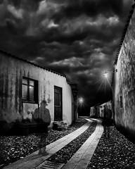 Passanti (nicolamarongiu) Tags: biancoenero blackandwhite monocrome longexposure trattalias gost fantasma fantasy ombre case urban dark notte notturno night sardegna sardinia italy italia passanti strada abbandoned decadence surrealism surreale surrealismo