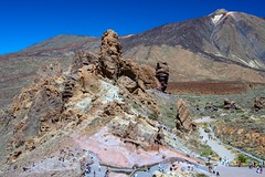 Roques de Garcia (López Pablo) Tags: lava volcano mountain teide national park rock sky blue green pink red nature tenerife canary islands spain nikon d7200